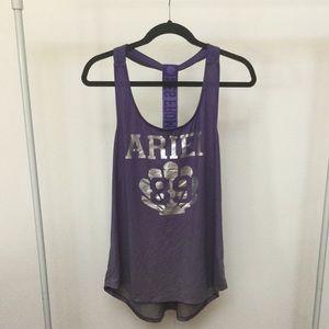 3/$25 Disney Little Mermaid Purple Razorback Top